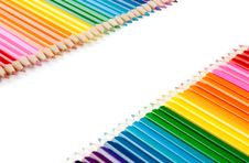 Free Assortment Of Color Pencils On White Stock Photography - 21691682