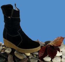 Free Suede Boots Royalty Free Stock Photos - 21692678