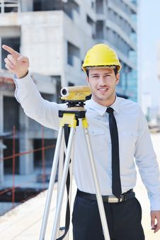 Free Architect On Construction Site Royalty Free Stock Photography - 21693297