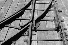 Free Railroad Track Intersection Stock Photography - 21694082