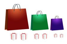 Free Shopping Bag And Gift Box Stock Photos - 21694603