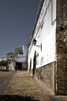 Old Spanish Village Stock Photo