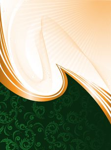 Free Green Background With Waves Stock Image - 21695391