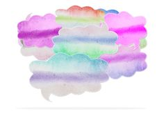 Watercolor Speech Bubble Stock Images