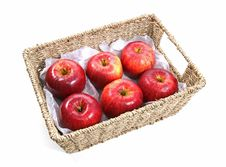 Free Apples In A Basket Stock Photos - 21696163