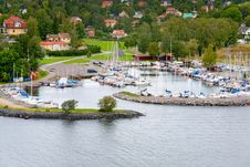 Free Small Swedish Village In Stockholm Suburb Royalty Free Stock Photo - 21698405