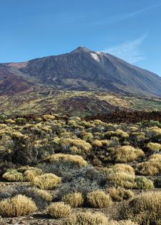 El Teide Summit Desert Stock Photo