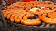 Free Sausages On The Grill Royalty Free Stock Photo - 21699965