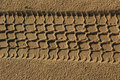 Free Path Of Car In Sand2 Stock Image - 2176531
