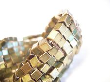 Free Golden Bracelet Closeup 01 Royalty Free Stock Image - 2172806