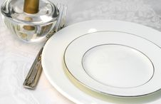 Free Table Ready For Dining Stock Image - 2173051