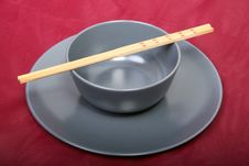 Free Bowl With Chopsticks Royalty Free Stock Photo - 2173085