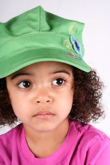 Free Girl In Green Hat Royalty Free Stock Images - 2174039