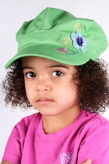 Free Girl In Green Hat Stock Images - 2174044