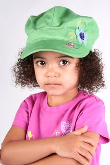 Free Girl In Green Hat Royalty Free Stock Photo - 2174045