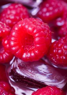 Free Cold Raspberries Stock Photography - 2174482