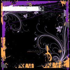 Free Grunge Floral Frame Royalty Free Stock Image - 2175566