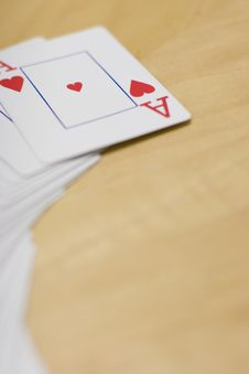 Free Deck Of Cards On Table Royalty Free Stock Photos - 2175938