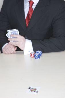 Free Man Playing Poker Royalty Free Stock Photo - 2176265