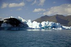 Icebergs Lit By The Sun Royalty Free Stock Image