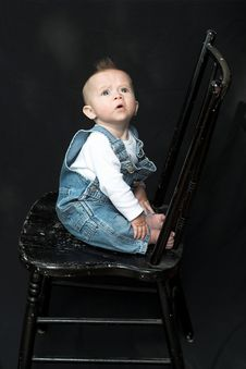 Free Baby On Chair Stock Photos - 2177363