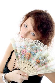 Free Girl With A Fan Stock Photos - 2177463