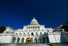 U.S. Capitol On A Sunny Spring Royalty Free Stock Photography
