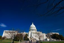 Free U.S. Capitol On A Sunny Day Royalty Free Stock Photography - 2177997