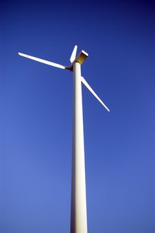Free Wind Turbine On Blue. Stock Photo - 2178030