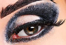 Fashion Make Up Of Eye. Stock Photos