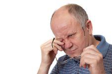 Free Bored Senior Man Stock Images - 2179314