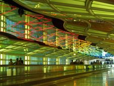 Free A Corridor Of A Major Airport Royalty Free Stock Photo - 2179445