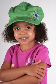 Free Girl In Green Hat Stock Images - 2179604