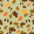 Free Seamless Pattern With Acorns Royalty Free Stock Photos - 21704368