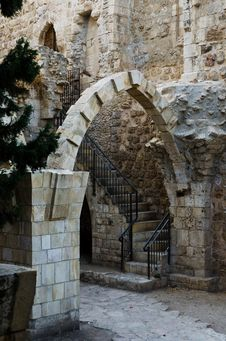 Free Antiquities Near The Western Wall Royalty Free Stock Photography - 21700077