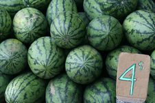 Free Watermelon On Sale Stock Images - 21701324
