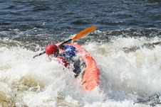 Free Whitewater Kayaker Royalty Free Stock Photography - 21702567