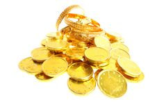 Free Lot Of  Gold Coins Stock Photo - 21706240