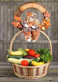 Basket Of Vegetables Stock Photo