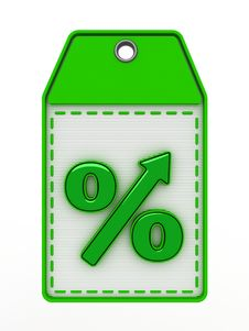 Free Green Sign Of Percent Royalty Free Stock Photos - 21707898