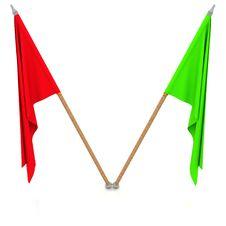 Free Two Flags Stock Photos - 21708103