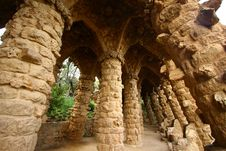 Free Stone Columns In Guell Park Royalty Free Stock Photography - 21708437