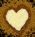 Free Heart From Buckwheat And Rice Royalty Free Stock Photo - 21713595