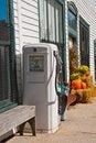 Free Vintage Gas Pump With 99c Per Gallon Gas. Stock Photos - 21716243