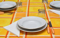 Free Orange Table Set Stock Photo - 21719710