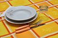 Free Orange Table Set Stock Photos - 21719733