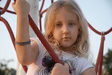 Free Girl In Ropes Royalty Free Stock Image - 21713936