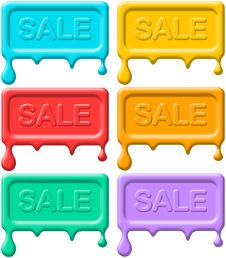Free Melting Sale Seals Royalty Free Stock Photos - 21715488