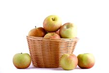 Free Apple And Basket Stock Image - 21717811