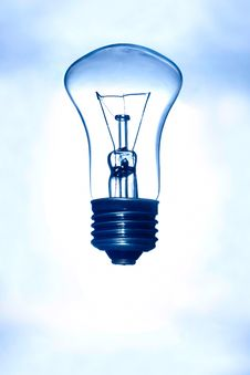 Light Bulb On  Background Royalty Free Stock Photos